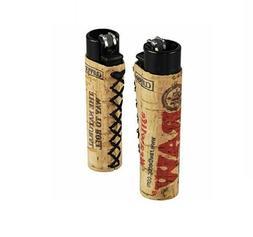 1 Ct CLIPPER Flint Lighter Refillable Full Size RAW CORK COV