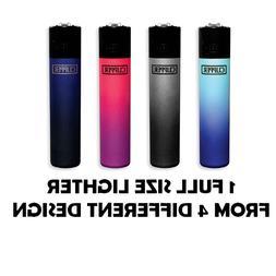 1 Full Size CLIPPER Refillable Lighter METALLIC GRADIENT COL