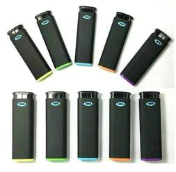 10 Ct MK JET BLACK TORCH  Big Full Size Lighters Refillable
