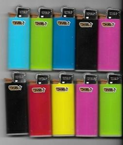 10 MINI BIC LIGHTER ASSORTED COLORS NEW SMALL SIZE BIC WITH