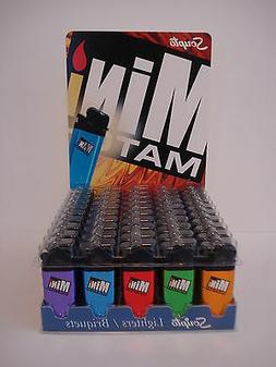 10 Scripto Mini Match Lighter 2 Orange, 2 Green, 2 Red, 2 Bl