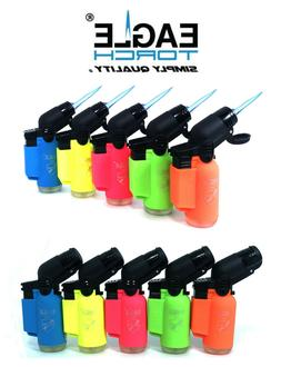 10 Pack Eagle Torch Neon Color 45 Degree Angle Jet Flame Lig