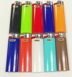 10 REGULAR BIC LIGHTER ASSORTED COLORS NEW BIC WITH FLUID NO