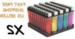 100 Classic Full Size Lighter BULK WHOLESALE LOT Disposable