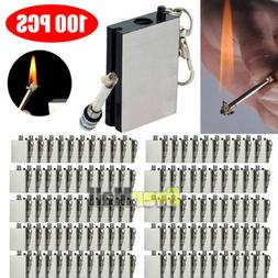 100Pcs Survival Emergency Camping Fire Starter Flint Metal M