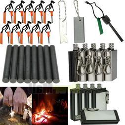10XEmergency Magnesium Flint Fire Starter Rod Lighter Campin