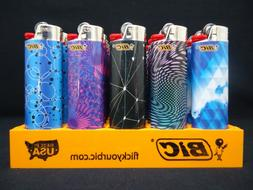 11 Bic Lighters Geometric Design Regular Size Disposable