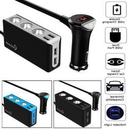 12V Car Cigarette Lighter Splitter Power Adapter Outlet 3 So