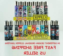 16 Full Size Assorted Color Mix Design Refillable CLIPPER Li