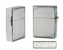 """Zippo """"1935 Replica"""" Lighter with Brushed Chrome Finish and"""