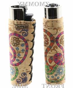 1x Clipper Natural Cork Refillable Full Size Lighter Daisy D