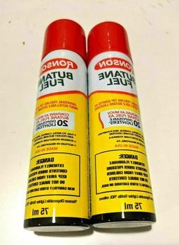 Ronson Butane 75ml / 2.54 fl oz Refill Fuel Gas for Lighters