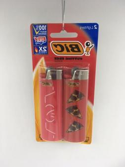 2 Pack Bic Lighters Special Edition Flick Your Bic, Gift, Pi