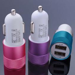 2-Port Dual USB 2A Car Charger Adapter FastCharging Cigar Li