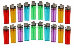 20 Lighters Disposable Mix Color Butane Lighter Outdoor Kitc