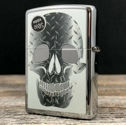 2014 Zippo Lighter - Iron Skull - High Polish Chrome