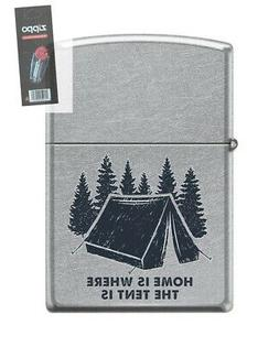 Zippo 202282 Camping Home Is Where the Tent Is Lighter + FLI