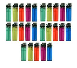 25 Pcs Full Size Disposable Butane Lighter Assorted Colors W