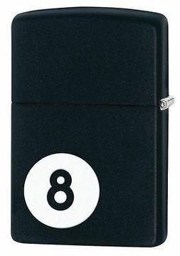 "Zippo 28432, ""8-Ball-Billiards"" Black Matte Finish Lighter"