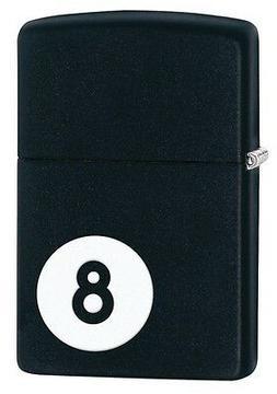 Zippo 28432, 8 Ball, Billiards, Black Matte Finish Lighter