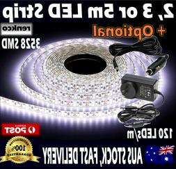 2m, 3m or 5m Led Strip Lights Cool White Waterproof Flexible