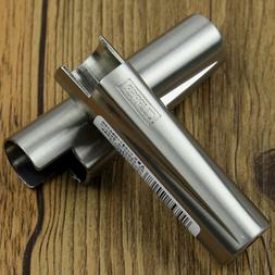 2Pcs Silver Metal Case Holder Cover F Original Clipper Light