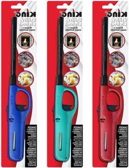 3 Pack King Bkou172 Multi Utility Lighter Assorted Colors Li