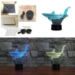 3D Illusion Lamp Novelty Optical Led Light 7 Colors Change S
