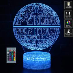 3D Optical Illusion Lamp Touch 7 Colors Star Wars Kids Carto