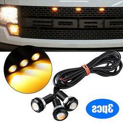 3pcs LED Amber Grille Lighting Kit Universal Fit Truck SUV F