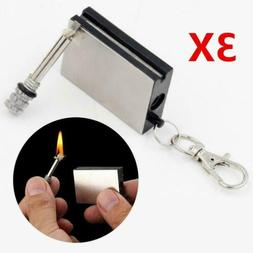 3X MATCH BOX LIGHTER STRIKER PERMANENT METAL NOVELTY KEYRING