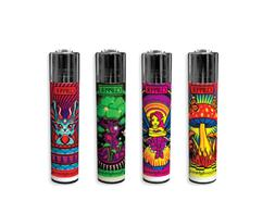 4 Ct Full Size CLIPPER Flint Lighters Refillable TINKERBELL