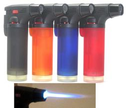 4 Pack Single Jet Flame Torch Windproof Refillable Cigarette