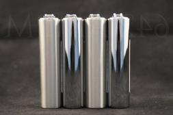 4 New Refillable Mini Original Clipper Lighters with Removab