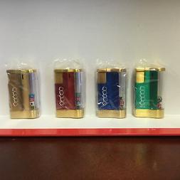 Vintage Z Best View Lighter With 5 Dice Gold Color