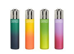 4 X CLIPPER Metallic Gradient Original LIGHTERS Full Size Re