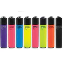 4 X CLIPPER  LIGHTERS Refillable - Mix Style