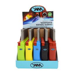 5 Ct Of Colorful MK JET CANDLE TORCH Full Size Lighters Refi