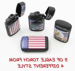 5 Ct USA Eagle Jet Torch Lighter Wind Proof Lighters BALD EA