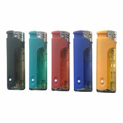 5 - Flags Refillable Butane Lighter Assorted Colors With LED