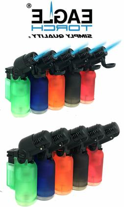 5 Pack 45 Degree Angle Jet Flame Torch Lighter Refillable +