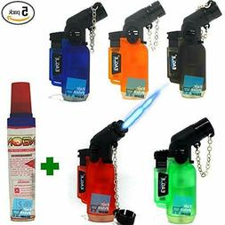 5 Pack 45 Degree Angle Eagle Torch Lighter Refillable Windpr