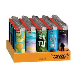 5 Pack BIC Classic Lighters - Assorted Colors, SPECIAL EDITI