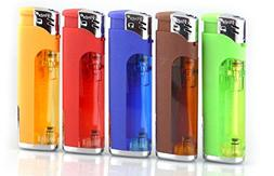 5 pack refillable butane lighter assorted colors