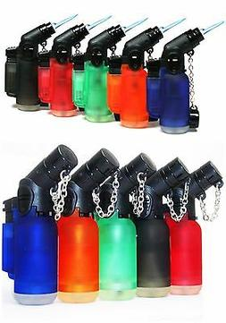 5 PACK Windproof 45 Degree Angle Jet Butane Torch Lighter Re
