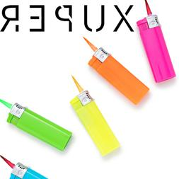 5 pack xuper color jet flame lighters