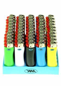 50 Full Dize MK Grip Disposable Cigarette Lighters, All Purp