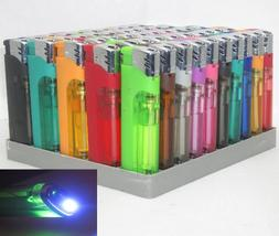 50 Pack Multi Purpose Cigarette Lighter w/ White LED Slide S