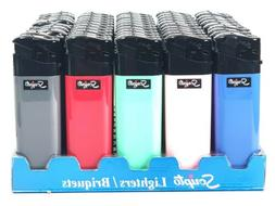 50 Scripto Electronic Lighters New Style 1 Step Push Down -