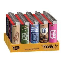 25x BIC Detroit Tigers Lighters - Mix N Match - Convenient R